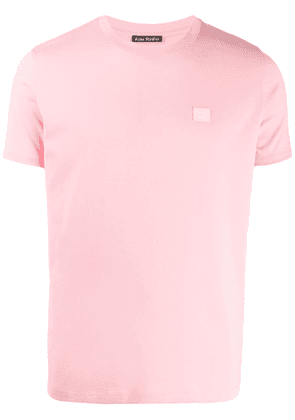 Acne Studios face-patch T-shirt - Pink