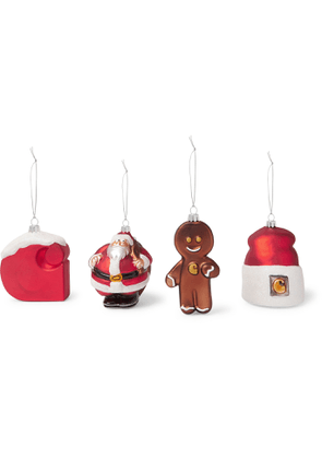 Carhartt WIP - Set of Four Glass Baubles - Men - Red