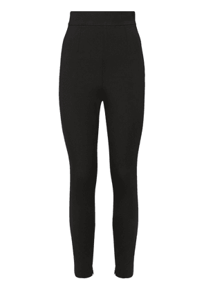 High Waist Stretch Wool Canvas Leggings
