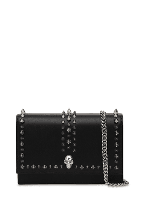 Small Skull Studded Leather Bag