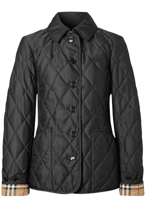 Fernleigh Nylon Buttoned Quilted Jacket