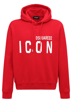 Printed Icon Logo Cotton Jersey Hoodie