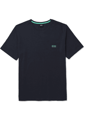 Hugo Boss - Slim-Fit Logo-Embroidered Stretch-Cotton Jersey T-Shirt - Men - Blue