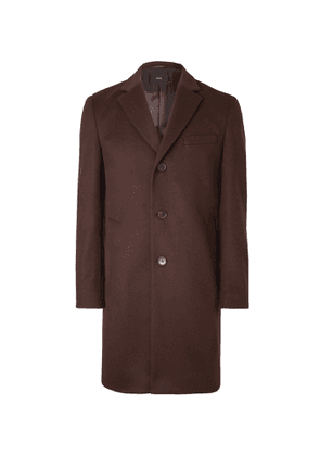 Hugo Boss - Slim-Fit Virgin Wool and Cashmere-Blend Overcoat - Men - Burgundy