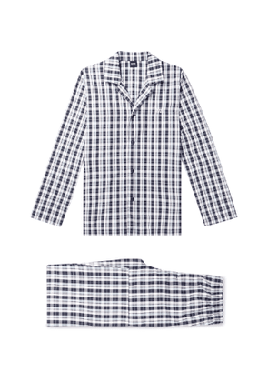 Hugo Boss - Checked Cotton-Poplin Pyjama Set - Men - Black