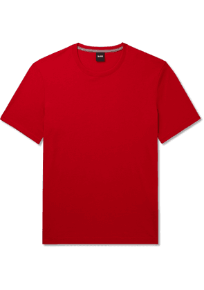Hugo Boss - Slim-Fit Mélange Cotton-Jersey T-Shirt - Men - Red