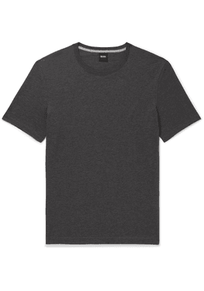 Hugo Boss - Slim-Fit Mélange Cotton-Jersey T-Shirt - Men - Gray