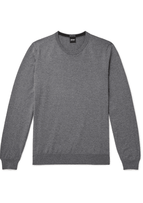 Hugo Boss - Mélange Virgin Wool Sweater - Men - Gray