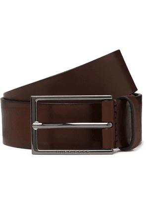 Hugo Boss - 3.5cm Leather Belt - Men - Brown
