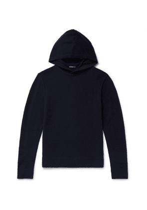 James Perse - Slim-Fit Waffle-Knit Cashmere Hoodie - Men - Blue