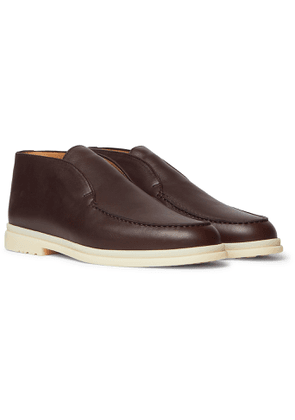 Loro Piana - Open Walk Leather Boots - Men - Brown