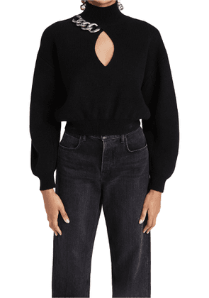 Alexander Wang Turtleneck Pullover with Chain Link Front