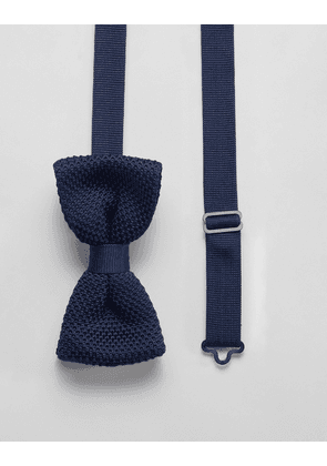 Twisted Tailor knitted bow tie in navy