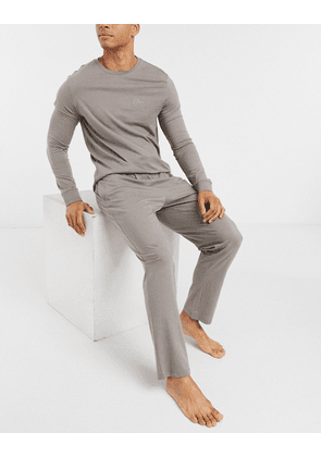 New Look jogger lounge set with NLM embroidery in grey