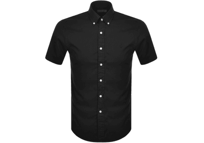 Ralph Lauren Oxford Slim Short Sleeve Shirt Black