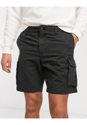Selected Homme cargo shorts in black