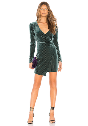 Privacy Please Hayden Mini Dress in Green. Size S, XS.