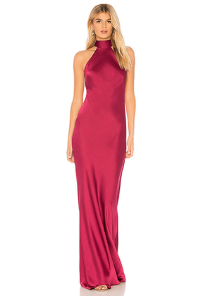 Jay Godfrey Brisco Gown in Red. Size 0.