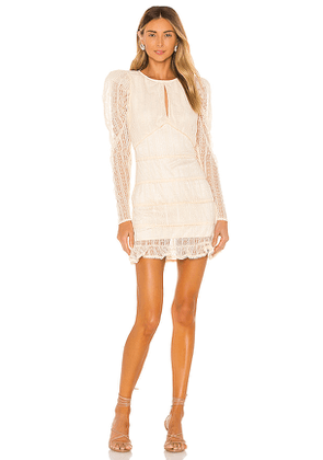 House of Harlow 1960 x REVOLVE Henrik Mini Dress in Cream. Size XL.