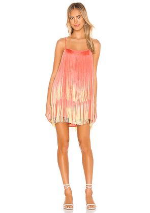 Show Me Your Mumu X Jamie Kidd Rhythm Mini Dress in Coral. Size S.