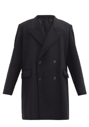 Lemaire - Double-breasted Wool-blend Coat - Mens - Black