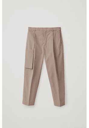 UTILITY-STYLE COTTON-MIX TROUSERS