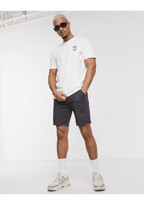 Only & Sons flamingo back print t-shirt in white