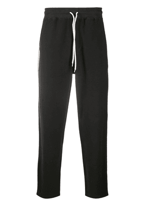 Cotton Contrast String Track Trousers