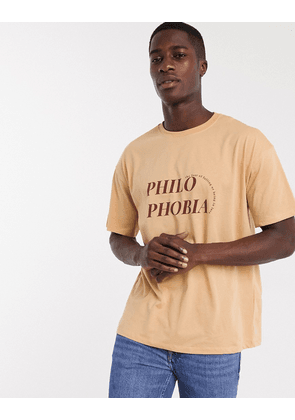 New Look print t-shirt with print in burnt orange