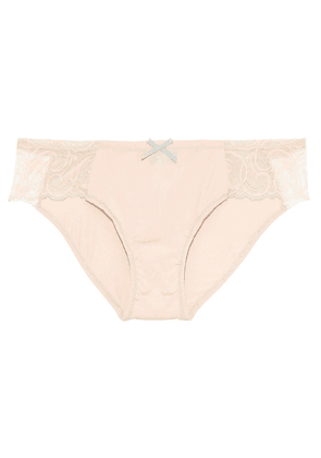 Cosabella Evolved Stretch-jersey And Lace Low-rise Briefs Woman Peach Size M