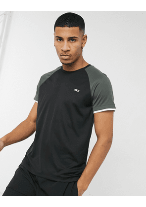 ASOS 4505 training t-shirt with contrast cuff-Black