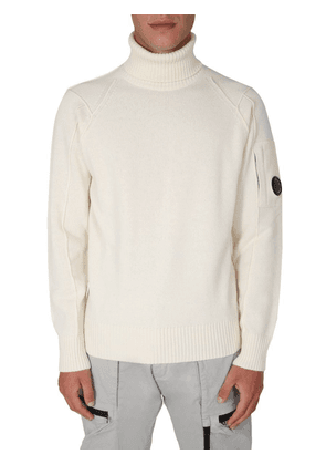 CP COMPANY MEN'S 09CMKN112A005504A103 WHITE WOOL SWEATER