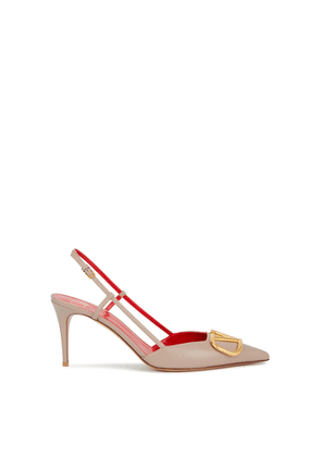 Valentino Valentino Garavani VLogo Blush Leather Pumps