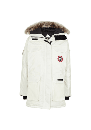 Canada Goose Expedition White Fur-trimmed Arctic-Tech Parka