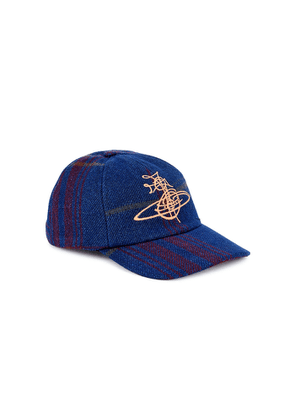 Vivienne Westwood Logo-embroidered Checked Cotton-blend Cap