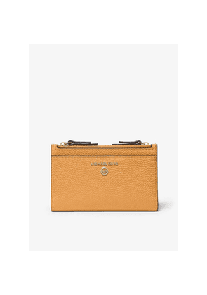 MICHAEL Michael Kors Small Pebbled Leather Double Zip Card Case