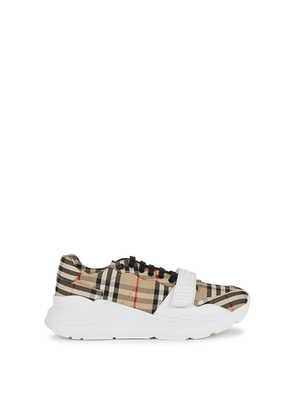 Burberry Regis Checked Canvas Sneakers