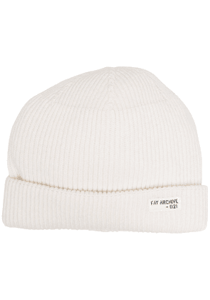 Fay ribbed knit hat - Neutrals