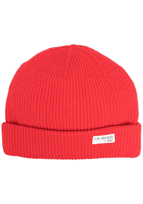 Fay ribbed knit hat - Red