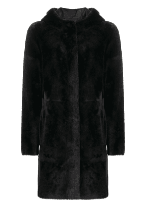 Arma reversible single-breasted coat - Black