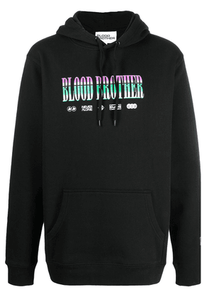 Blood Brother graphic-print cotton hoodie - Black