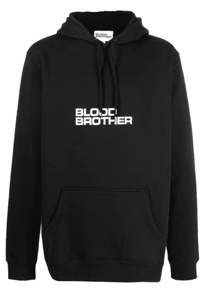 Blood Brother logo-print cotton-blend hoodie - Black
