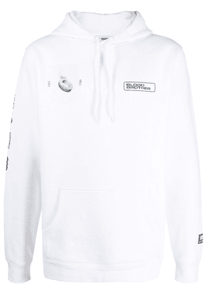 Blood Brother Euston graphic-print hoodie - White