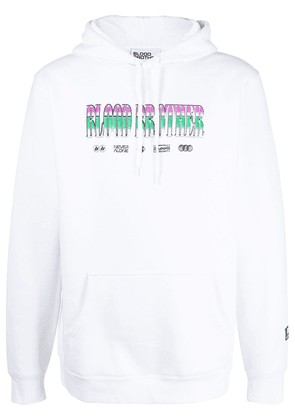 Blood Brother graphic-print cotton-blend hoodie - White