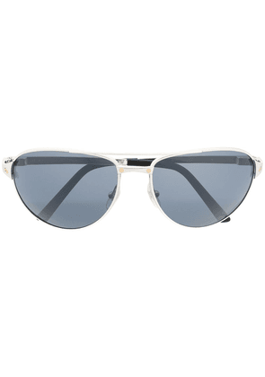 Cartier Eyewear screw detail aviator sunglasses - Black