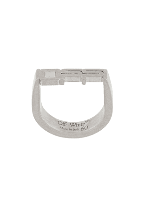 Off-White sculpted logo ring - SILVER