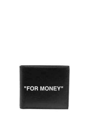 Off-White logo print wallet - Black