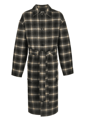 Cmmn Swdn oversized checked coat - Grey