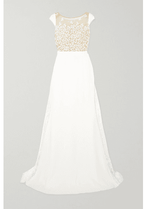 Rime Arodaky - Alvin Embroidered Tulle And Crepe Gown - White