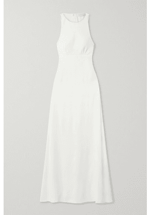 Vanessa Cocchiaro - Mary Cutout Washed-satin Gown - Ivory